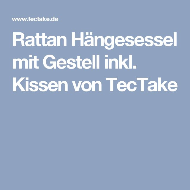 25+ melhores ideias de Hängesessel mit gestell no Pinterest - hangesessel korb rattan