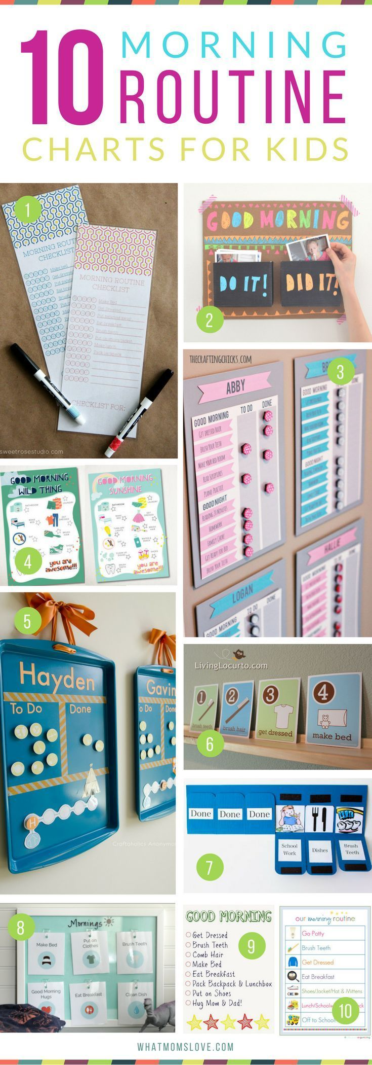 Morning Routine Charts For Kids | Hacks, Tips and Tricks for Organized, Stress-Free Mornings with kids - perfect for back to school!