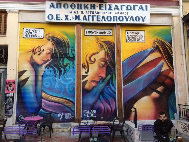 The Greek Guru takes some snap shots of Athens. #streetart