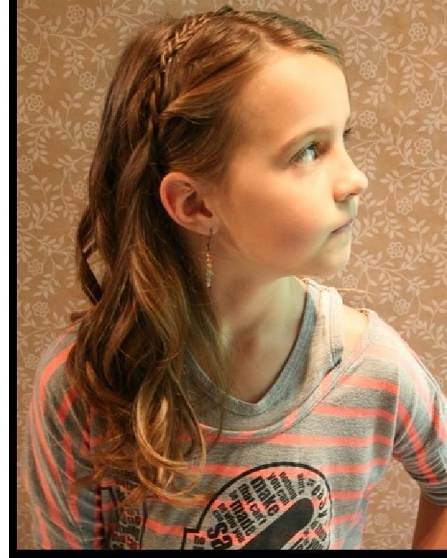 Cute Hairstyles with Tutorials for Your Daughter  Braided Bangs Hairstyle for Li…