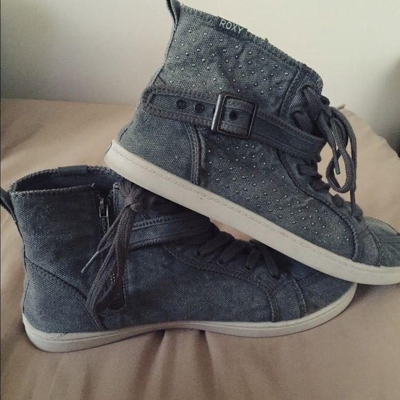 Roxy Renegade High Top Studded Sneakers  Great condition, hardly ever worn!! Roxy Shoes Sneakers
