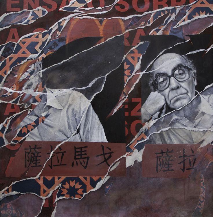 """Pedro Matos_Saramago  Oil on Linen, 60x60"""""""