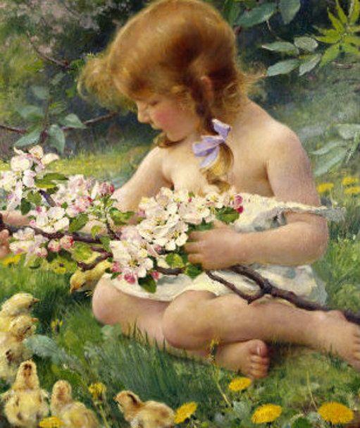 Art- 'Spring' by Franz Dvorak (1862-1927)