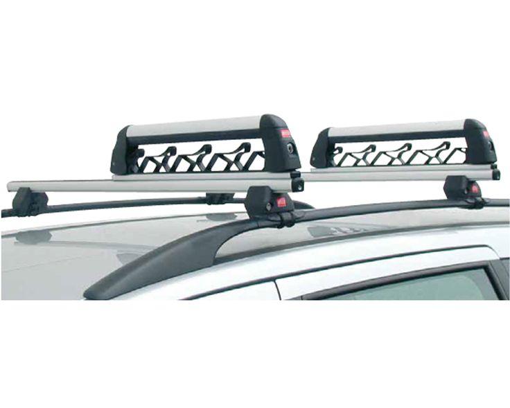 Aluski Board 4 Roof Rack For Ski And Snowboards Steel Safety Hook