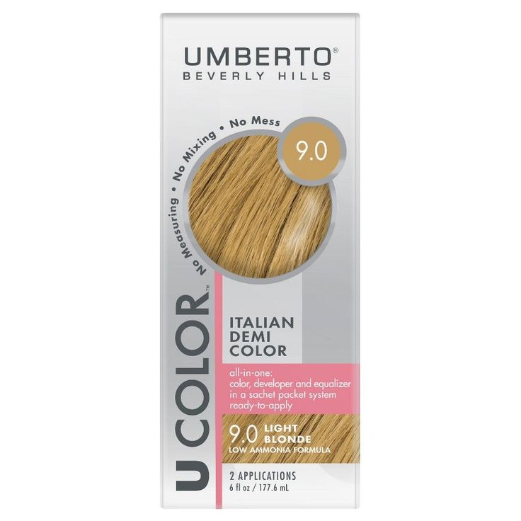 Umberto Beverly Hills U Color Italian Demi Hair Color - 9.0 Light Blonde