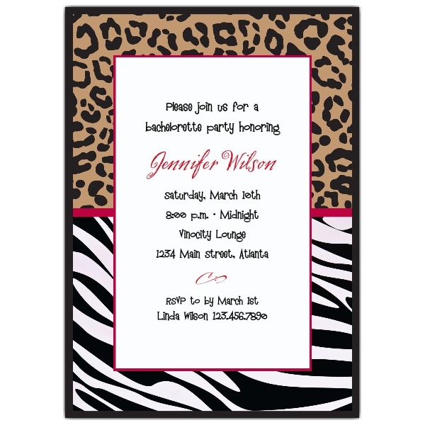 34 best images about 13th birthday party ideas – Zebra Party Invitations