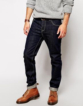 ASOS Slim Jeans In Japanese Selvedge Rinse Wash