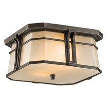 View the Kichler 49181 Craftsman / Mission Two Light Outdoor Flush Mount Ceiling Fixture from the North Creek Collection at LightingDirect.com.