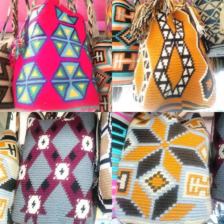 """""""Hermosas mochilas wayuu, de dos hebras, muchísimos diseños, a precios económicos, envíos 100% seguros. Envíos nacionales e internacionales.  Beautiful…"""""""