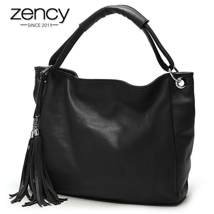2017 Bolsas Fashion 100 Italian Real Genuine Leather Handbags Tassel Women's Handbag Ladies Shoulder Tote Bags Satchel PurseLeather Bags