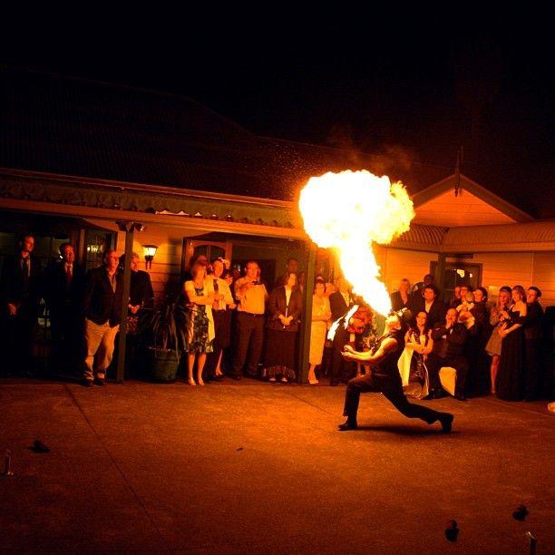 Flaming good times :: Photo by Nathania Springs Receptions :: Dandenong Ranges, Victoria, Australia