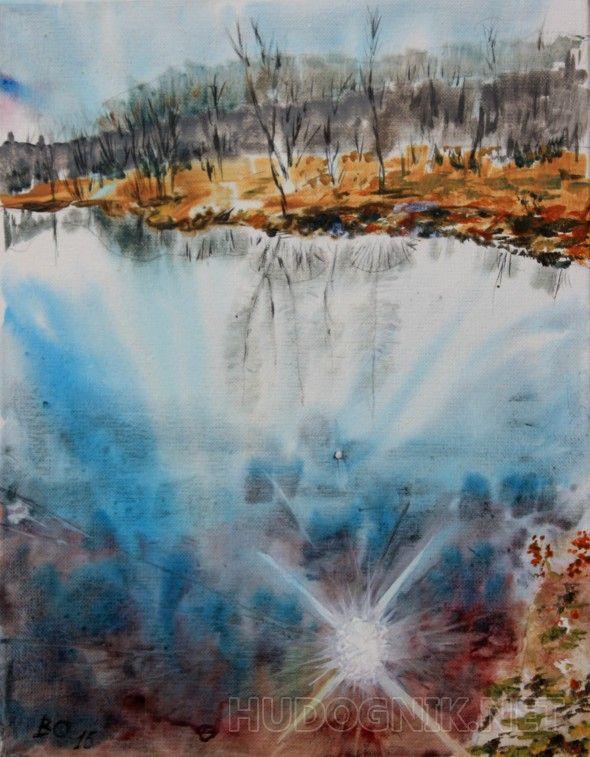 Весна Озеро в Плейнсборо, Нью-Джерси