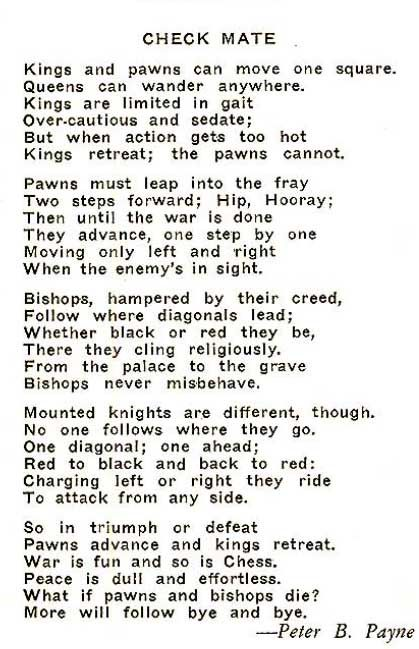 poem how to play chess - Google Search
