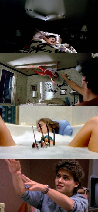 A Nightmare on Elm Street. Part of me finds this inappropriate but Johnny Depp's face at the end is priceless