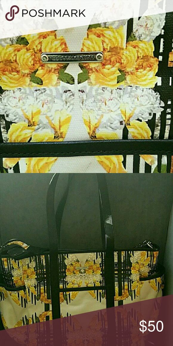 Rebecca Minkoff Diaper Bag NWT This super chic bag features a diaper changing pad,  multi compartments and an extra removable crossbody strap! Rare digital floral print amd brand new without tags! Rebecca Minkoff Bags Baby Bags