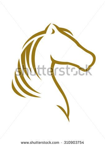Image result for simple cartoon silhouettes sketches horse