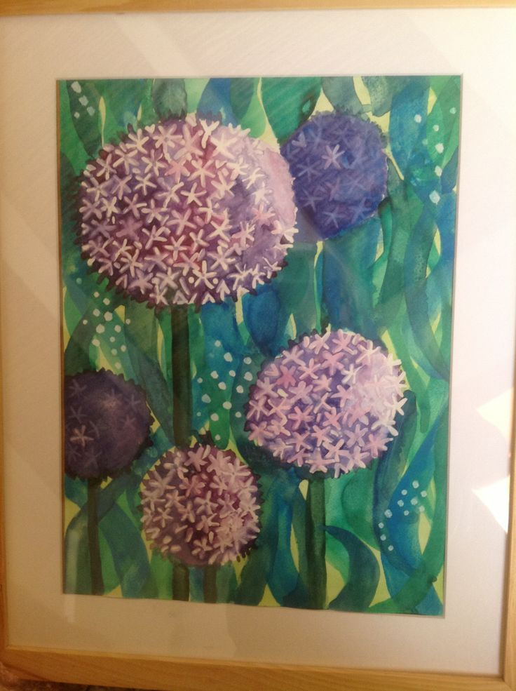 My version of the Aliums watercolour.