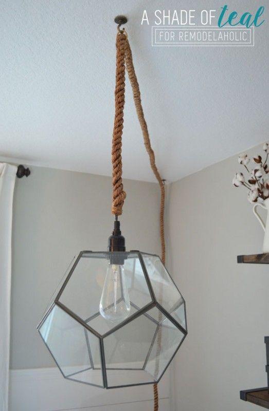 Terrarium to Geometric Pendant Light