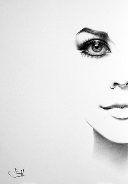 Natalie Wood Original Pencil Drawing Minimalism Fine Art Portrait Glamour Beauty Classic Hollywood