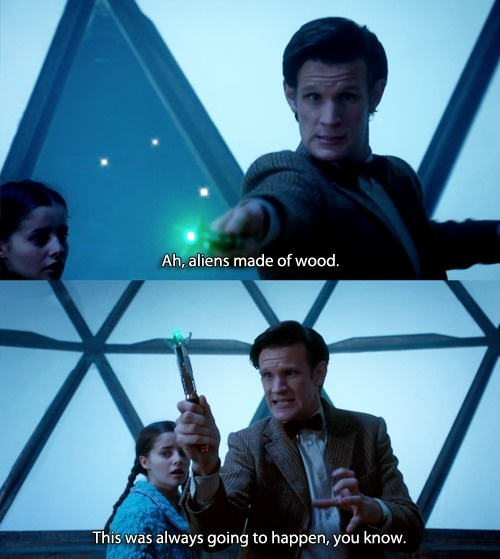 And yet he didn't take time off, no matter how long it would take, to make a wood setting?