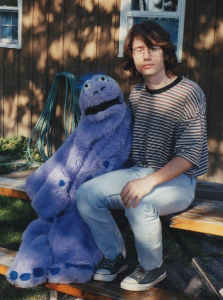 A nice summer's day with Gordon the Sea Monster in 1996, when I was 23.