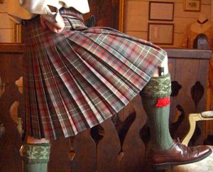 Box Pleated Kilt  Cunningham tartan from Lochcarron Lady Chrystel kilts from France