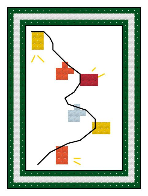 : Free cross stitch advent calendar pattern, Christmas lights