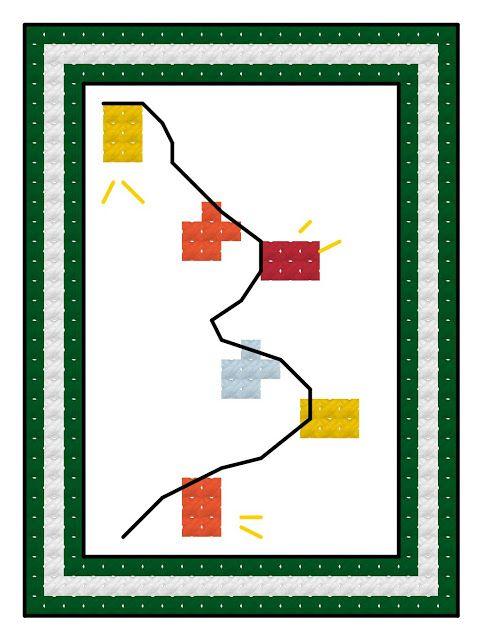 : Free cross stitch advent calendar pattern, Christmas lights