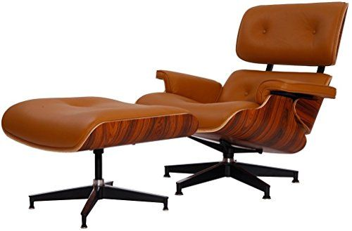 eMod  Eames Lounge Chair  Ottoman Plywood Light Brown Aniline Leather Palisander Wood Veneer *** You can find out more details at the link of the image.