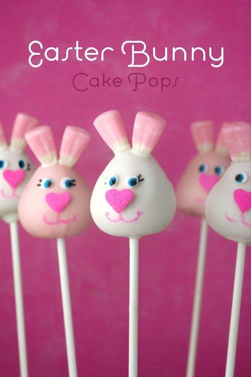 Easter bunny cake pops 1 from Bakerella