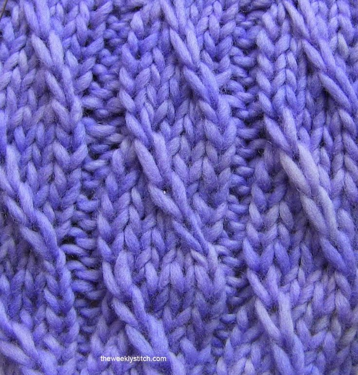 Sample knit with Malabrigo Worsted on Deborah Norville US #10 needles    This has to be one of my favorite new stitches! I love the look ...