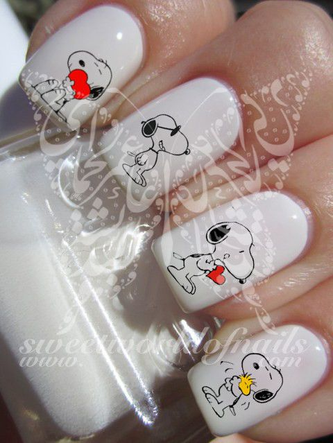 Snoopy Nail Art Nail Water Decals