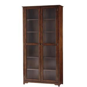 home decorators collection oxford 6shelf glass door bookcase in chestnut at the home
