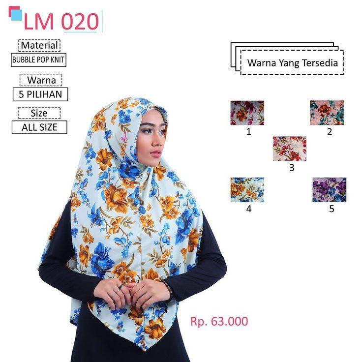 LM 020 Lamia Hijab - Kerudung Bergo Syar'i bahan kualitas premium, nyaman dipakai dan anti gerah. Material : Spandex. Size : All Size. #lamiahijab #hijabindonesia #kerudunginstan #bergo