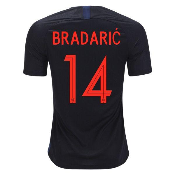 Filip Bradaric 14 Croatia 2018 World Cup Away Soccer Jersey Soccer Jersey Jersey World Cup