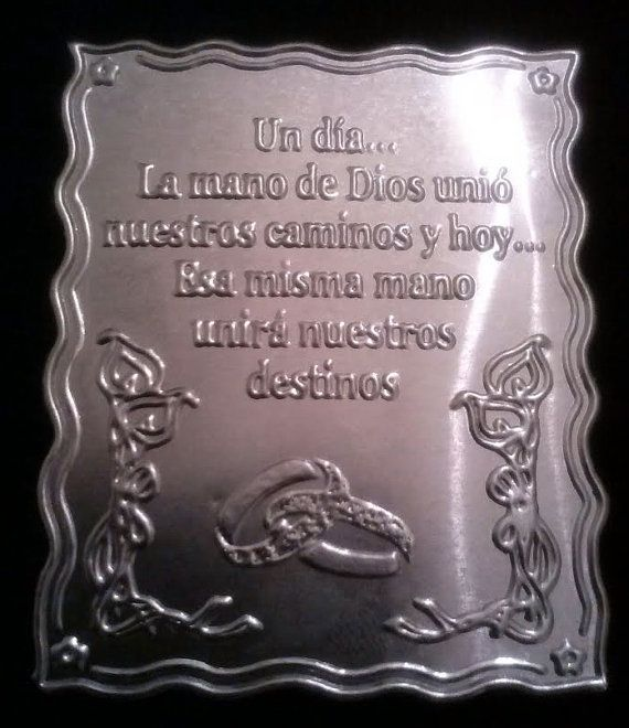 12  thin metal embossed Wedding spanish by Dreamluxcandles on Etsy