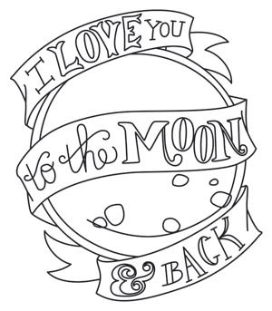 To the Moon and Back design (UTH6725) from UrbanThreads.com