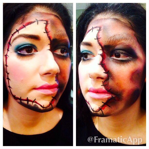 creative doll makeup