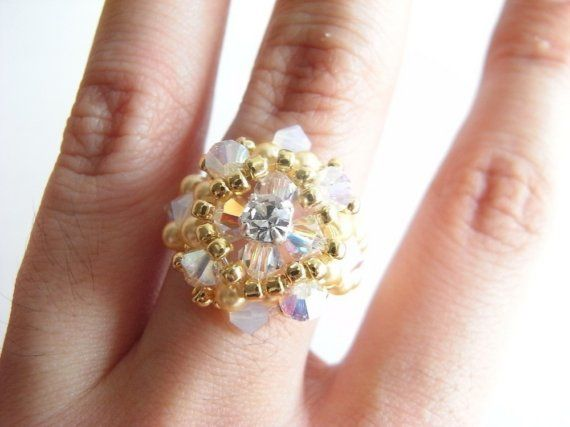 Dahlia Ring Tutorial TWR034 by atelierwendysue on Etsy, $5.00