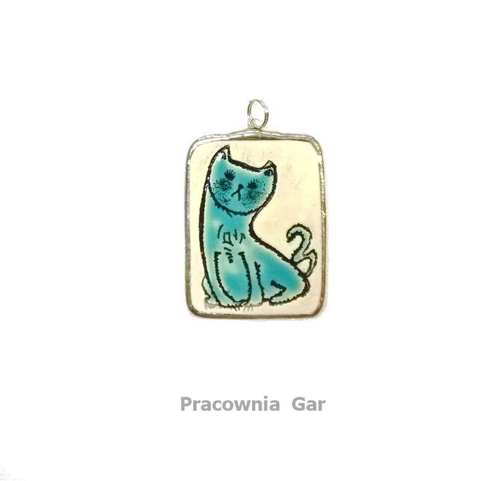 ceramic pendant , handmade , art jewerelly
