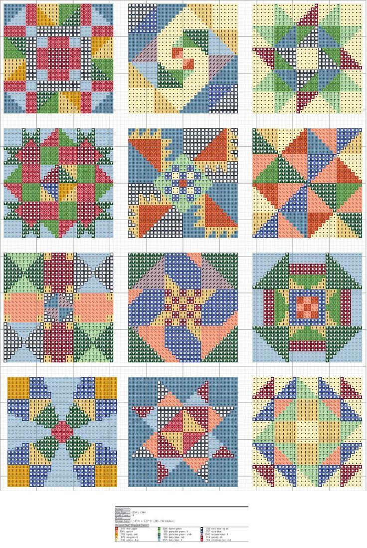cuadros multicolores
