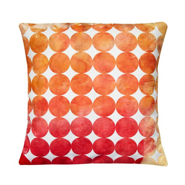 White Cotton Cushion with Geometric Circles