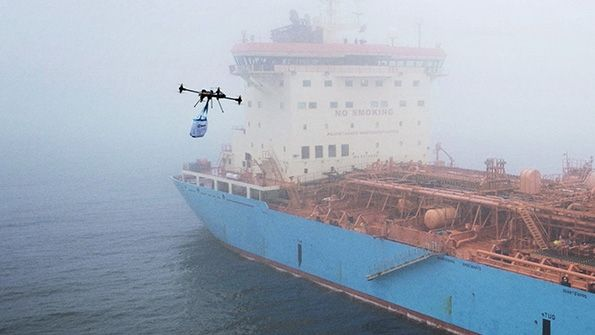 Maersk Checks Upon Drone Delivery  #cargoFreight  #cargoShipping  #DroneDelivery  #MaersksTanker  #drones  #transport  #ships  Maersk tankers checks upon drone delivery; limited to drone vessels that are certified to operate in explosive environments. First one conducted in Denmark included cookie delivery among its cargo freight. Tests done in collaboration with Xamen technologies. Manager of supply chain mentions challenges in getting things aboard for cargo shipping. Next step: eval