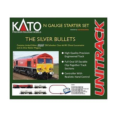 Kato :- #20-850-1 the silver bullets n #guage starter train set #brand  new & box,  View more on the LINK: 	http://www.zeppy.io/product/gb/2/152250015127/