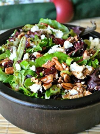 Cherry, Pecan and Goat Cheese Salad