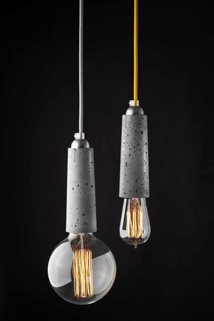 Falcon - lightweight concrete pendant lamp by ConcreteLamps on Etsy
