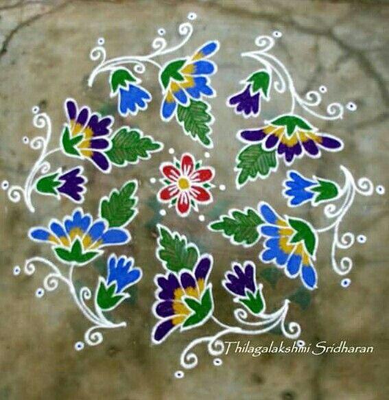 Flower rangoli...........