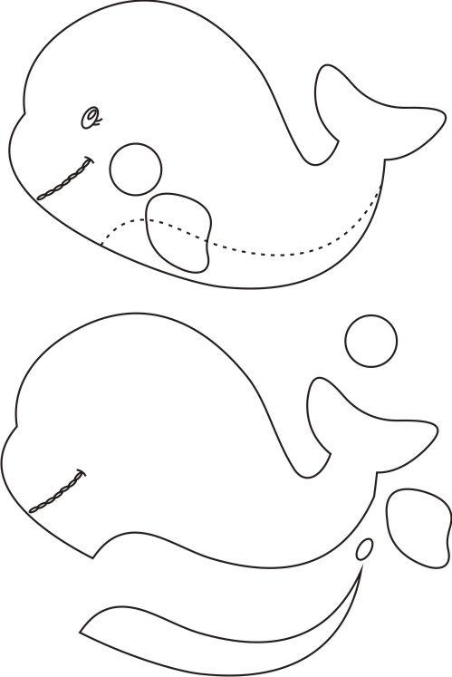Confira variados moldes de baleias em tamanhos naturais, prontos para serem baixados e usados em seus trabalhos de Patchwork, EVA e feltro. Baixe grátis cada um deles e crie novos projetos artesanais.