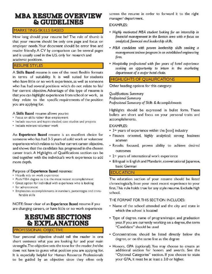 11 Sample Mba Resume Objective Statement(3)
