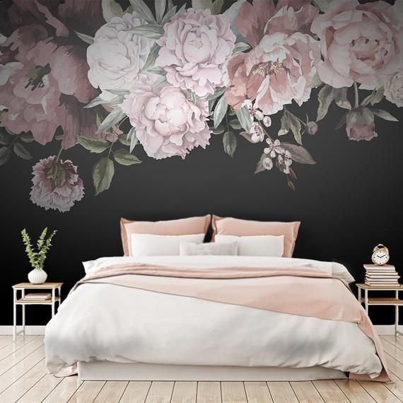 Wallpaper By Loveartdecals Are The Perfect Decor For Your Home Business Or As A Gift For A Close On Floral Wallpaper Bedroom Print Wallpaper Floral Wallpaper